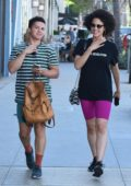 Nathalie Emmanuel grabs lunch with friends at Gratitude Kitchen & Bar in Los Angeles
