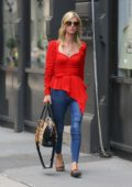 Nicky Hilton looks striking in red while out for a meeting in New York City