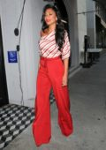Nicole Scherzinger looks striking in red while out to dinner at Craig's in West Hollywood, Los Angeles