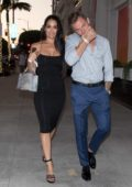 Nikki Bella and Artem Chigvintsev are all smiles as they step out for a dinner date in Beverly Hills, Los Angeles