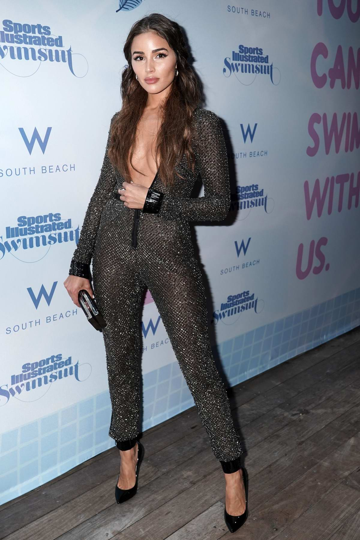 Olivia Culpo attends the 2019 Sports Illustrated Swimsuit Runway Show during Miami Swim Week in Miami, Florida