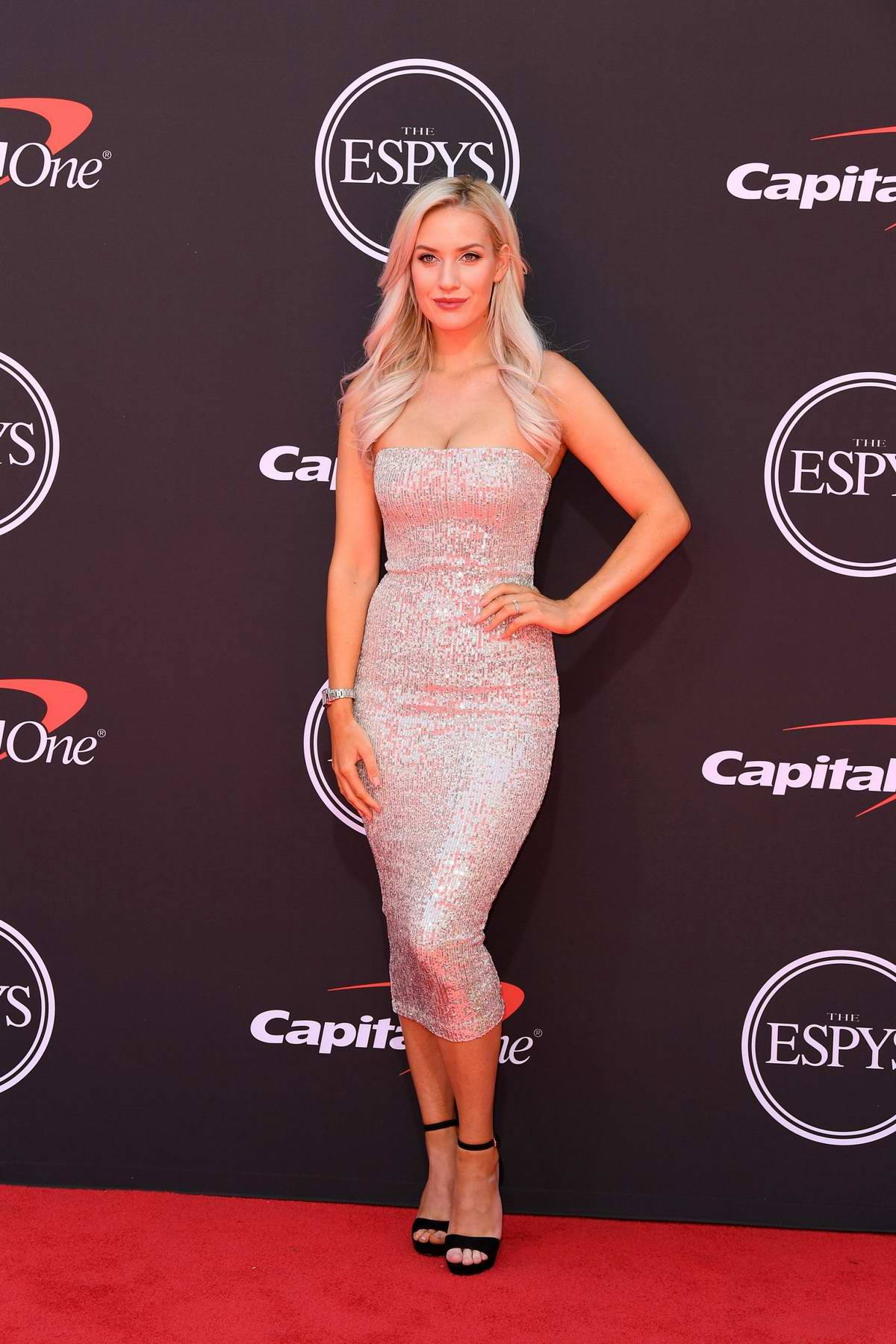 Paige Spiranac attends the 2019 ESPY Awards at the Microsoft Theatre in Los Angeles