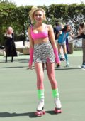 Peyton Roi List attends a Roller Skating Party in Malibu, California