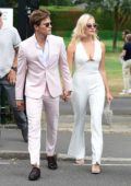Pixie Lott and Oliver Cheshire arrive at the 2019 Wimbledon Tennis Championships in London, UK