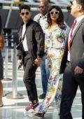 Priyanka Chopra and Nick Jonas arrive at JFK Airport in New York City