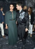 Priyanka Chopra and Nick Jonas attend the Christian Dior Show, Haute Couture Fall/Winter 2019/2020 during Paris Fashion Week in Paris, France