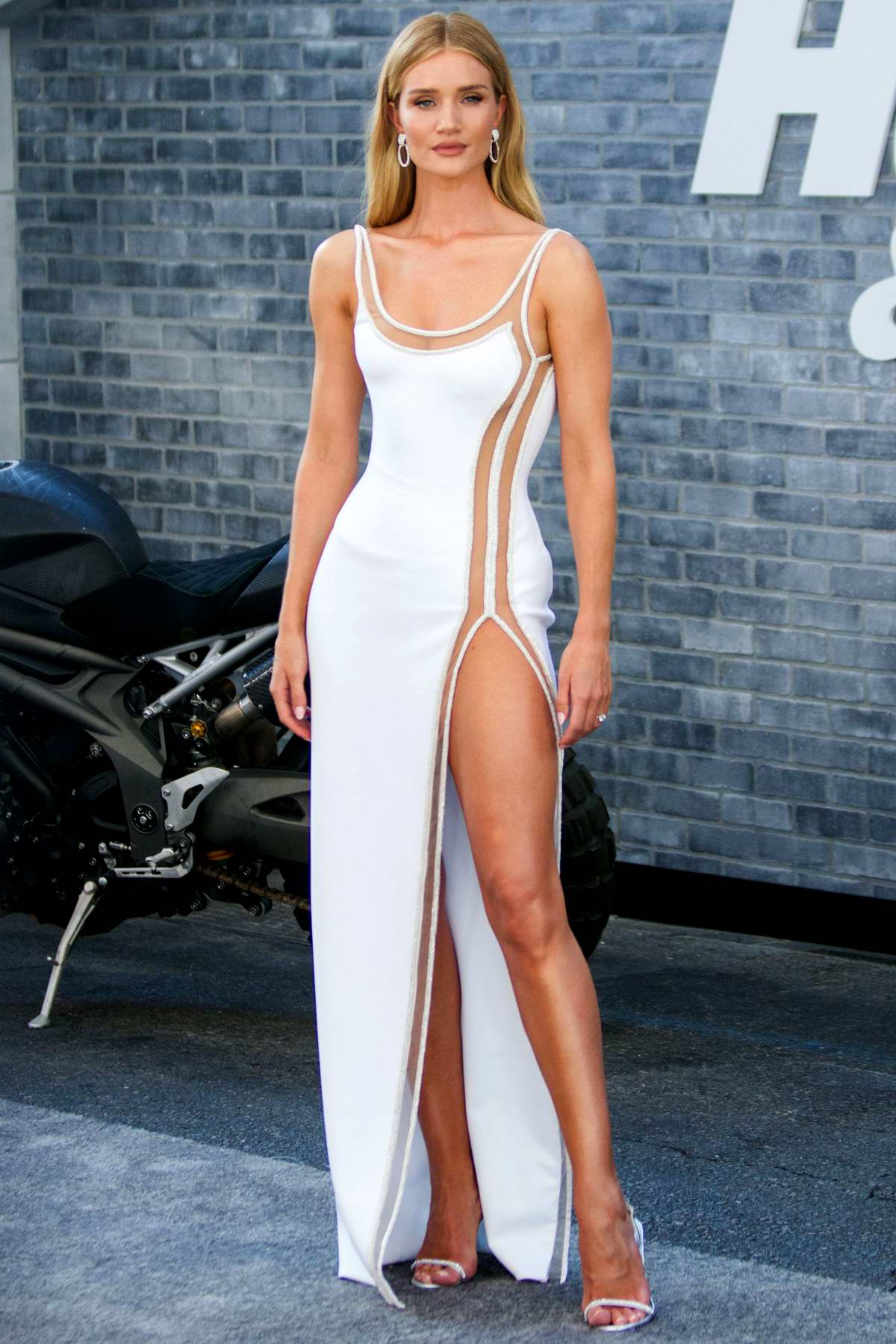 Rosie Huntington-Whiteley attends the Premiere of 'Fast & Furious Presents: Hobbs & Shaw' at Dolby Theatre in Hollywood, California