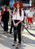 Sara Sampaio attends the Giorgio Armani Prive Haute Couture Fall/Winter 2019/2020 show during Paris Fashion Week in Paris, France