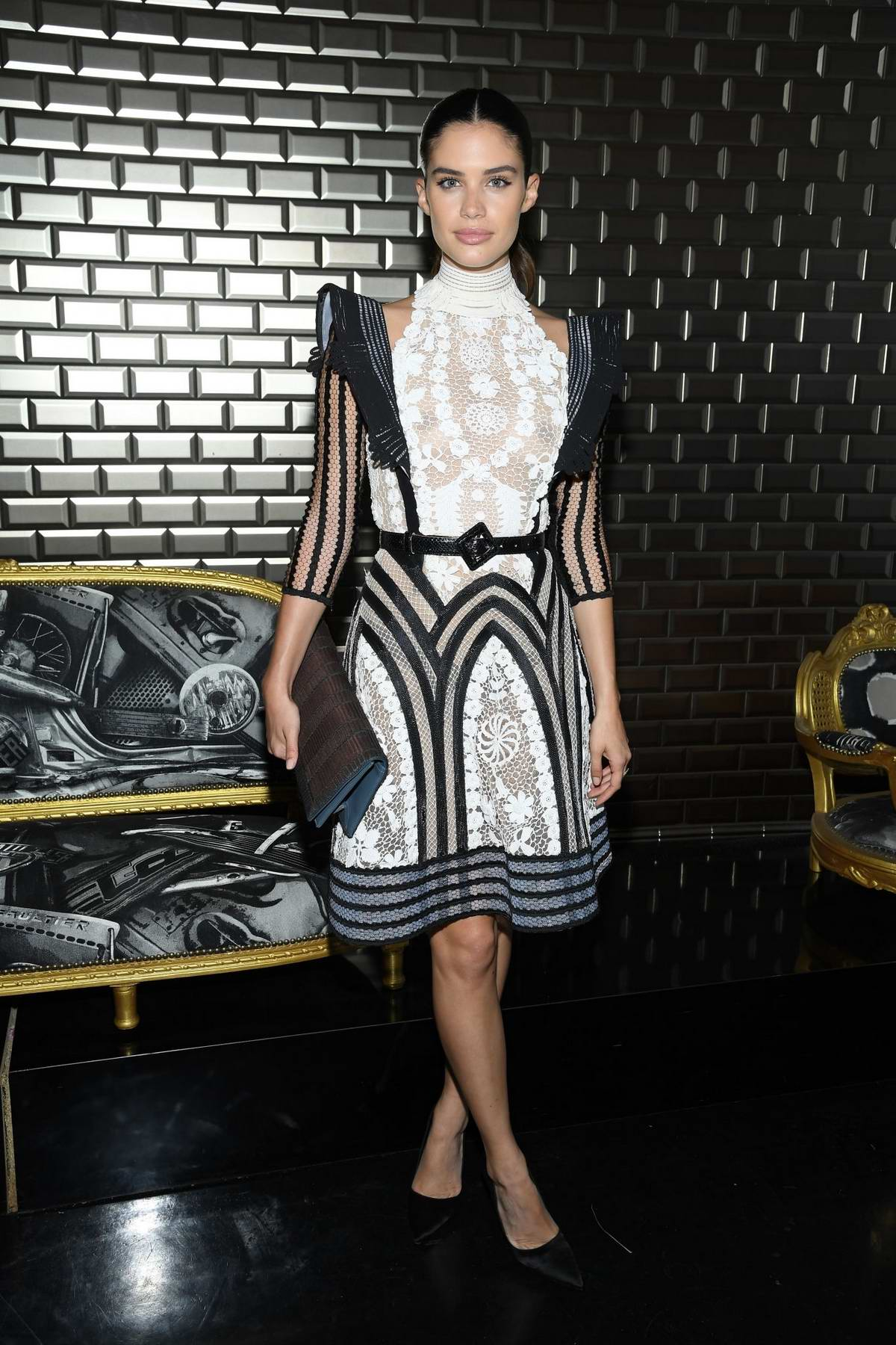 Sara Sampaio attends the Jean Paul Gaultier Haute Couture Fall/Winter 2019/20 show during Paris Fashion Week in Paris, France
