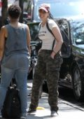 Sarah Silverman seen out in 'Love Your Mother' T-Shirt and camouflage pants in New York City