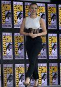 Scarlett Johansson attends the 'Marvel' panel during 2019 Comic Con International in San Diego, California