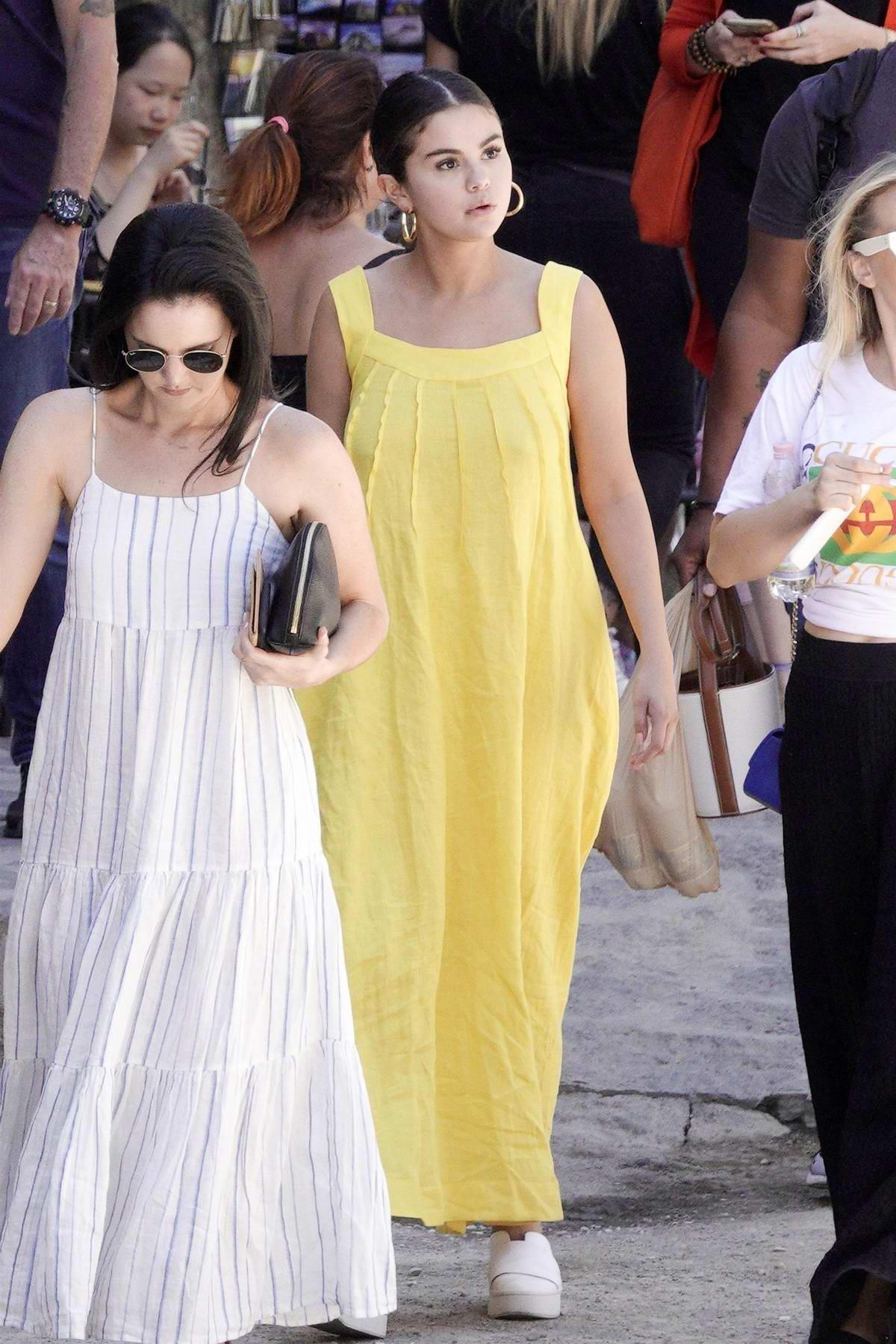 Selena Gomez and her friends visit the Italian village of Civita di Bagnoregio, Italy