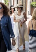 Selena Gomez enjoys a stroll in the sunshine with her friends in Capri, Italy