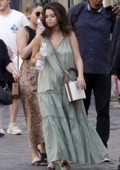 Selena Gomez grabs lunch with producer Andrea Iervolino on her 27th birthday at Pierluigi in Rome, Italy