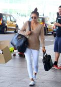 Shay Mitchell and boyfriend Matte Babel spotted as they arrive at Barcelona Airport, Spain