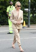 Sienna Miller attends the 2019 Wimbledon Tennis Championships in London, UK