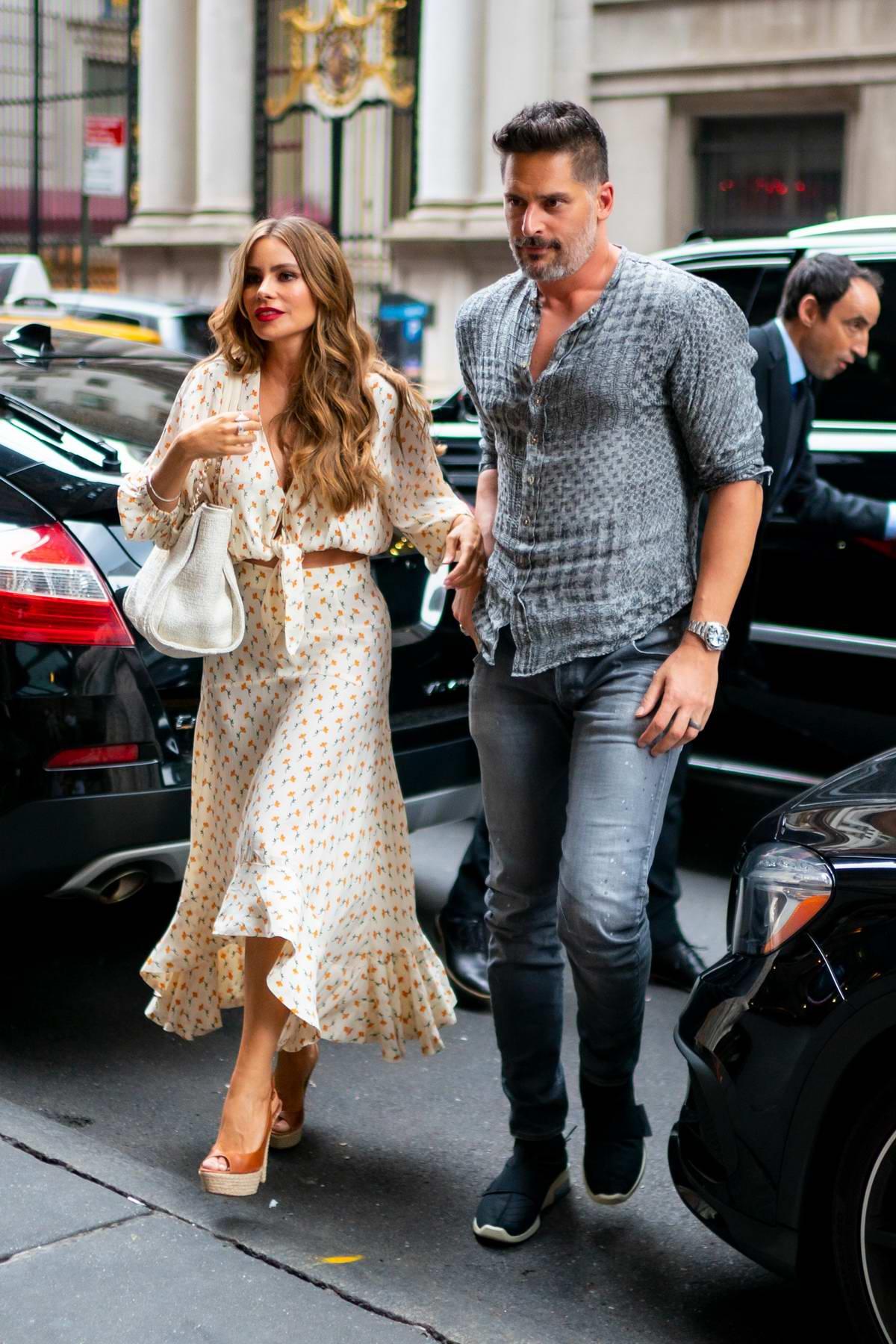 Sofia Vergara and Joe Manganiello enjoy a dinner date at Avra in New York City