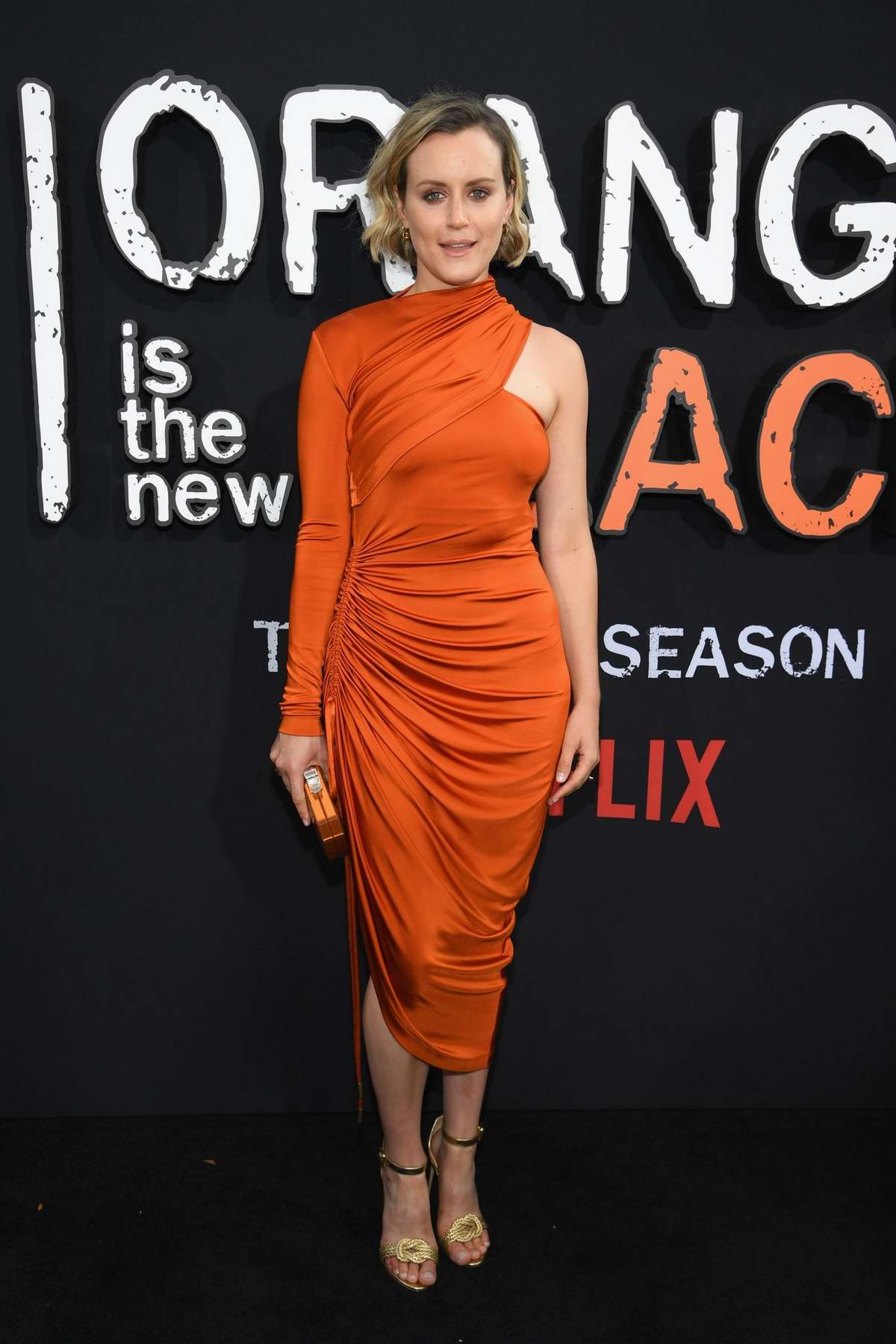 Taylor Schilling attends the 'Orange Is The New Black' Final Season World Premiere at Alice Tully Hall, Lincoln Center in New York City