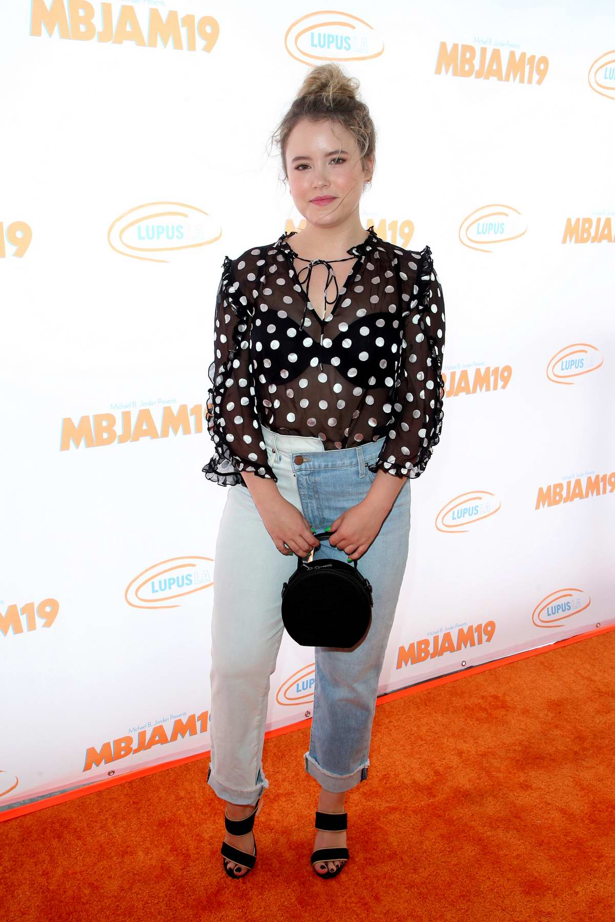 Taylor Spreitler attends the 3rd Annual MBJAM19 in Hollywood, California