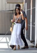 Vanessa Hudgens and Austin Butler do some shopping at the local pet store with their dog in Los Angeles