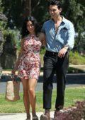 Vanessa Hudgens and Austin Butler enjoy a stroll after lunch in Los Feliz, California