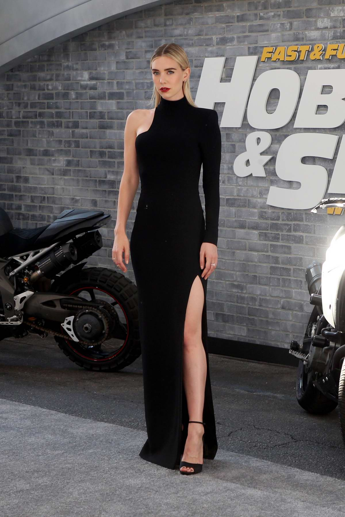 Vanessa Kirby attends the Premiere of 'Fast & Furious Presents: Hobbs & Shaw' at Dolby Theatre in Hollywood, California