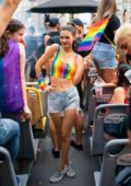 Victoria Justice attends the WorldPride NYC 2019 March in New York City