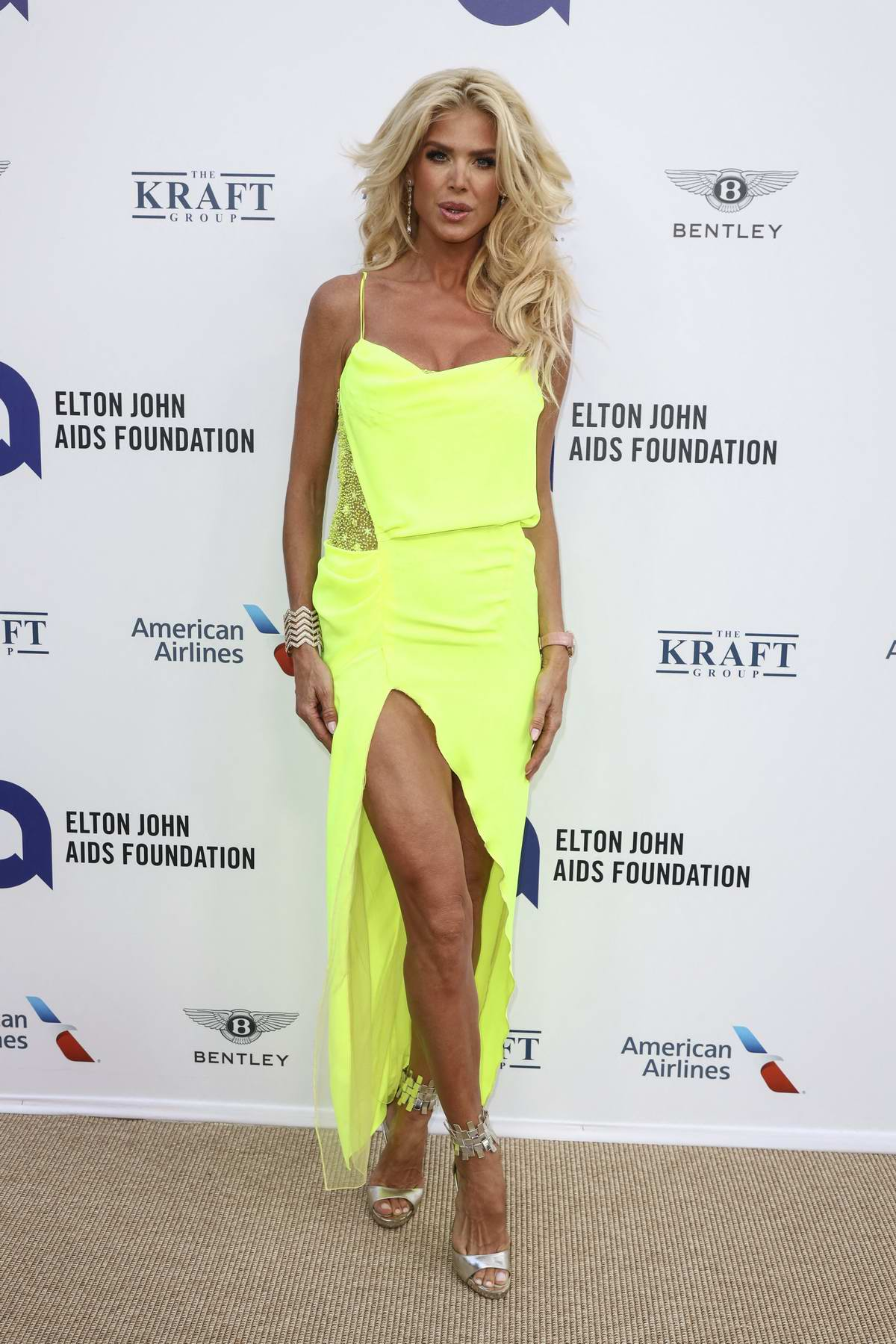 Victoria Silvstedt attends the Midsummer Party to benefit the Elton John AIDS Foundation held at Villa Dorane, Antibes, France