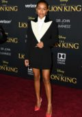 Yara Shahidi attends the premiere of Disney's 'The Lion King' at Dolby Theatre in Hollywood, California