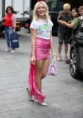 Zara Larsson looks pretty in pink as she leaves Capital Radio in London, UK