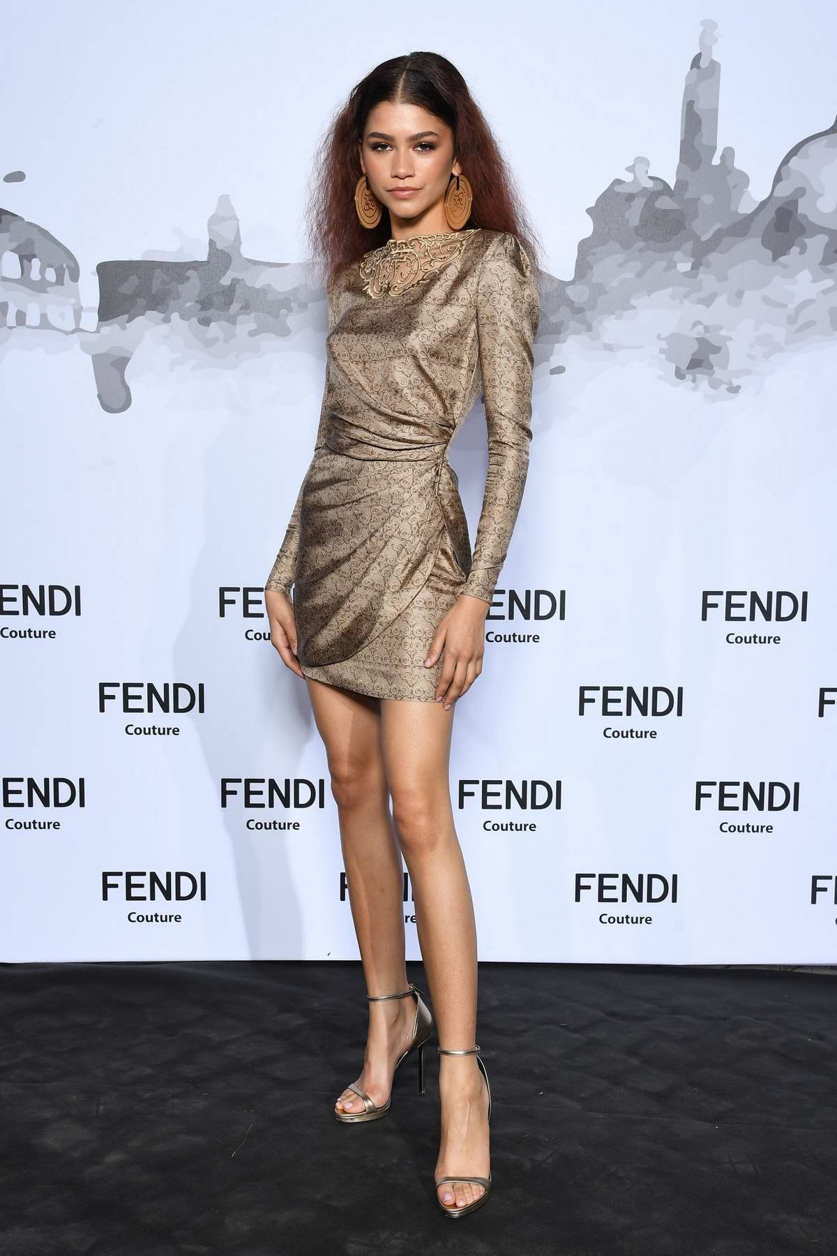 Zendaya attends the Cocktail and Fendi Couture Fall/Winter 2019/20 at Palatine Hill in Rome, Italy