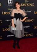 Zooey Deschanel attends the premiere of Disney's 'The Lion King' at Dolby Theatre in Hollywood, California