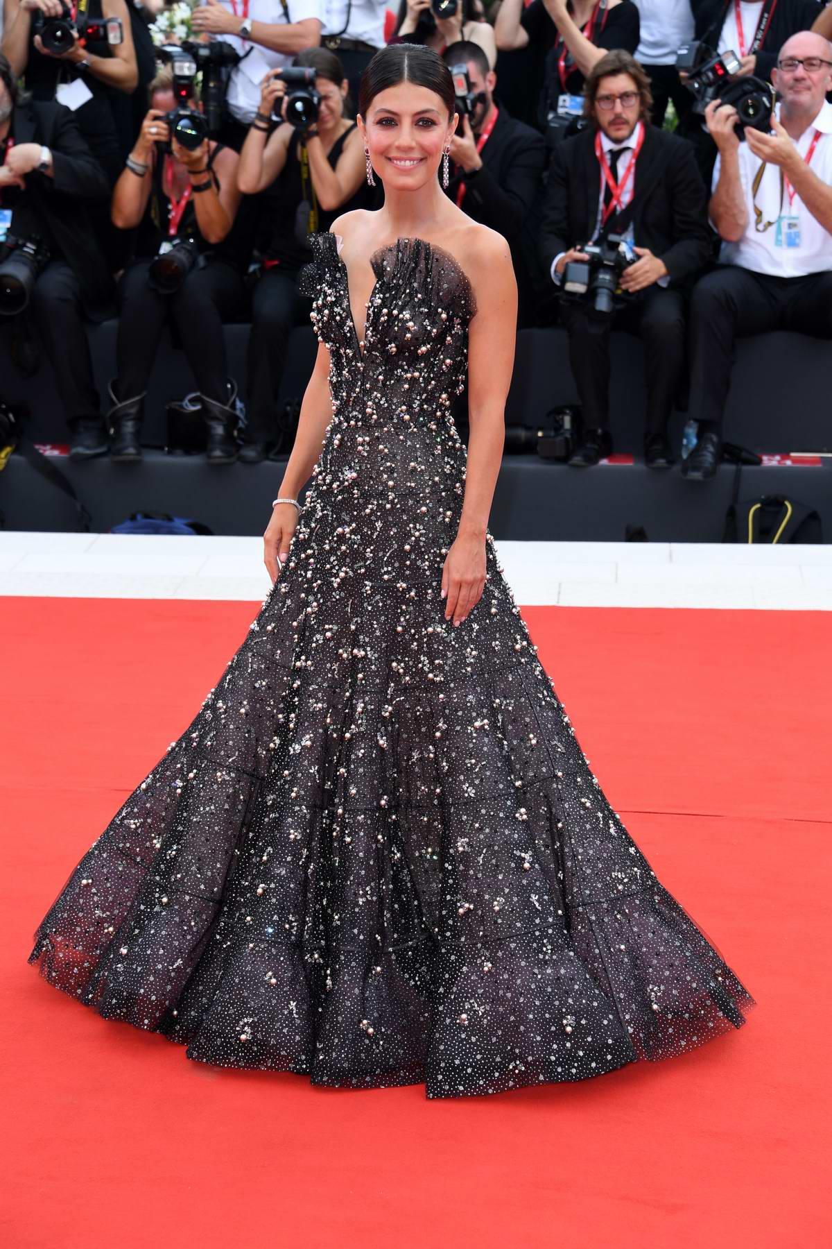 Alessandra Mastronardi attends 'La Vérité' (The Truth) screening during the 76th Venice Film Festival in Venice, Italy