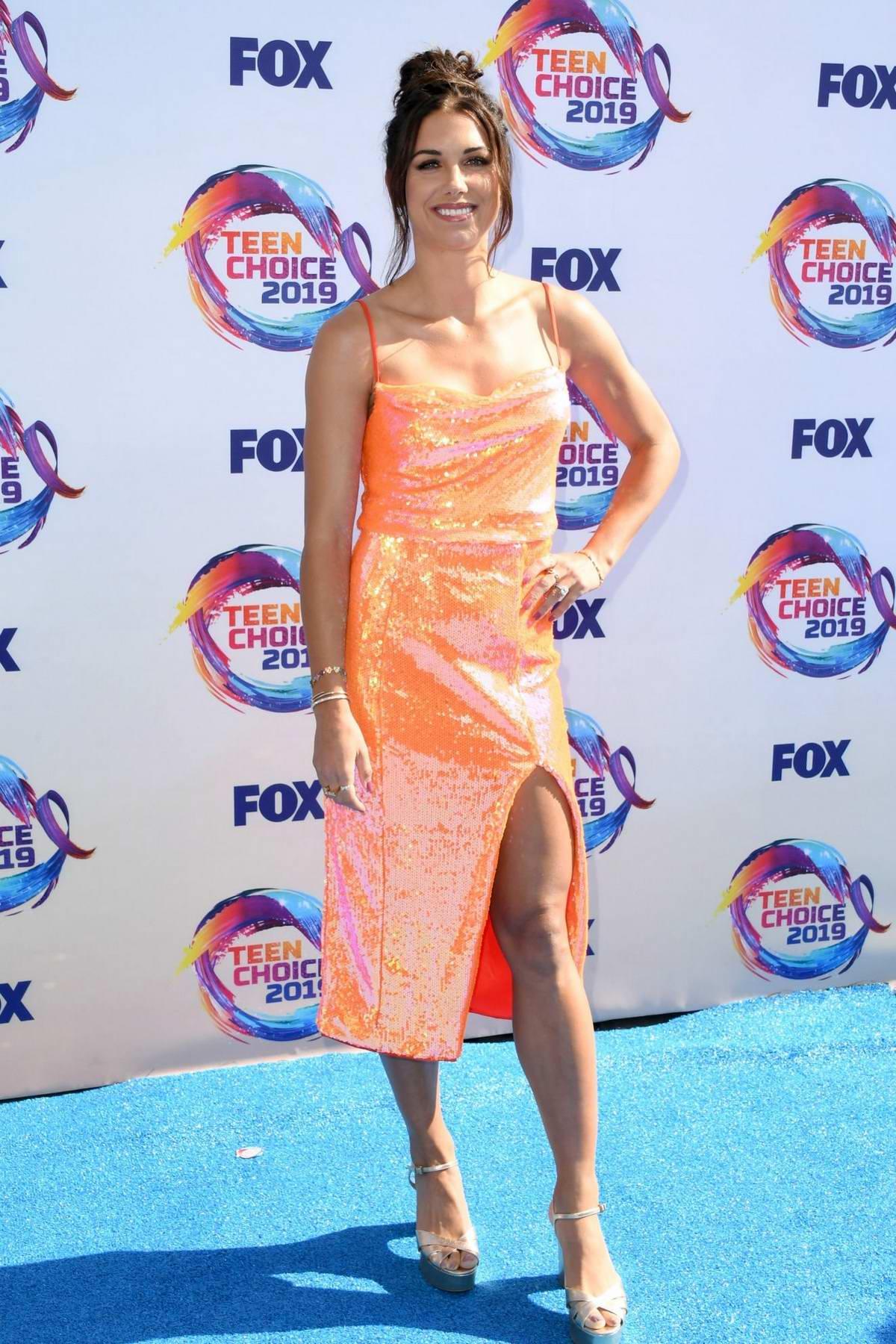 Alex Morgan attends the FOX's Teen Choice Awards 2019 in Hermosa Beach, California