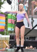 Alice Chater performs onstage at Brighton & Hove Pride in Brighton, UK