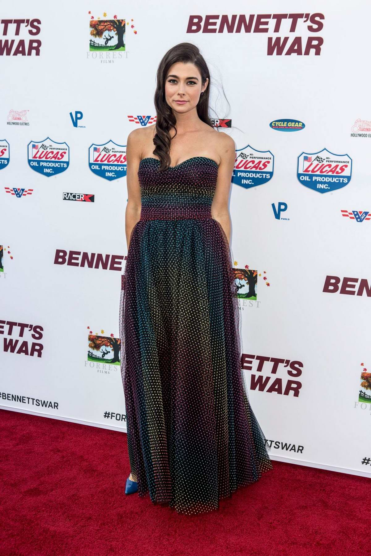Allison Paige attends the LA Premiere of 'Bennett's War' at Warner Bros Studios in Burbank, California