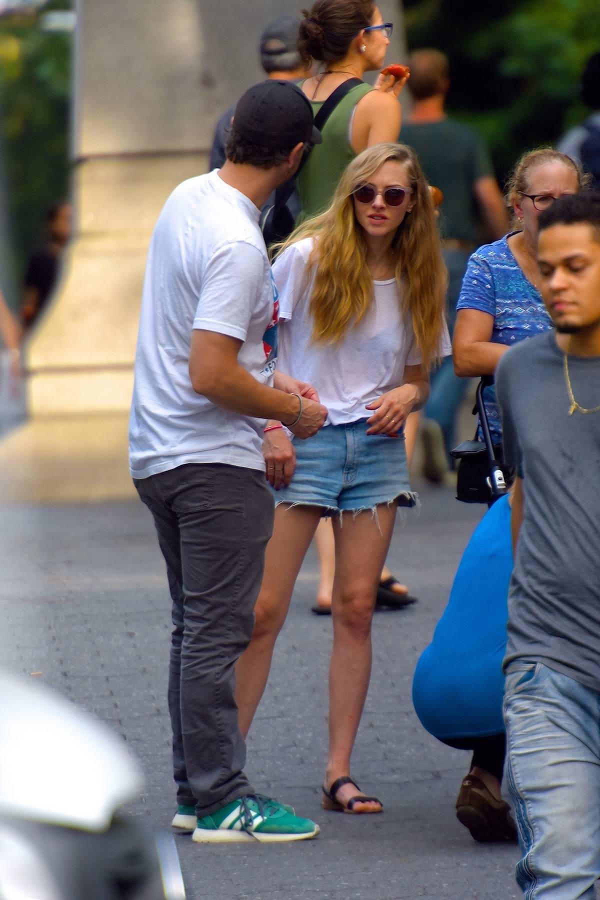 Amanda Seyfried and Thomas Sadoski enjoys an afternoon stroll in Manhattan, New York City