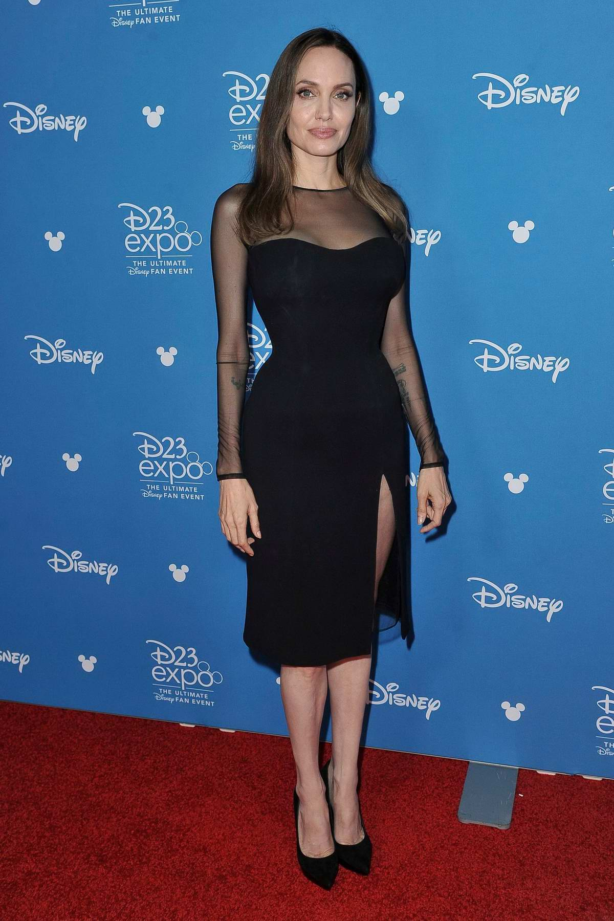 Angelina Jolie attends Disney D23 Expo 2019 at Anaheim Convention Center in Anaheim, California