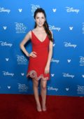 Anna Kendrick attends Disney D23 Expo 2019 at Anaheim Convention Center in Anaheim, California