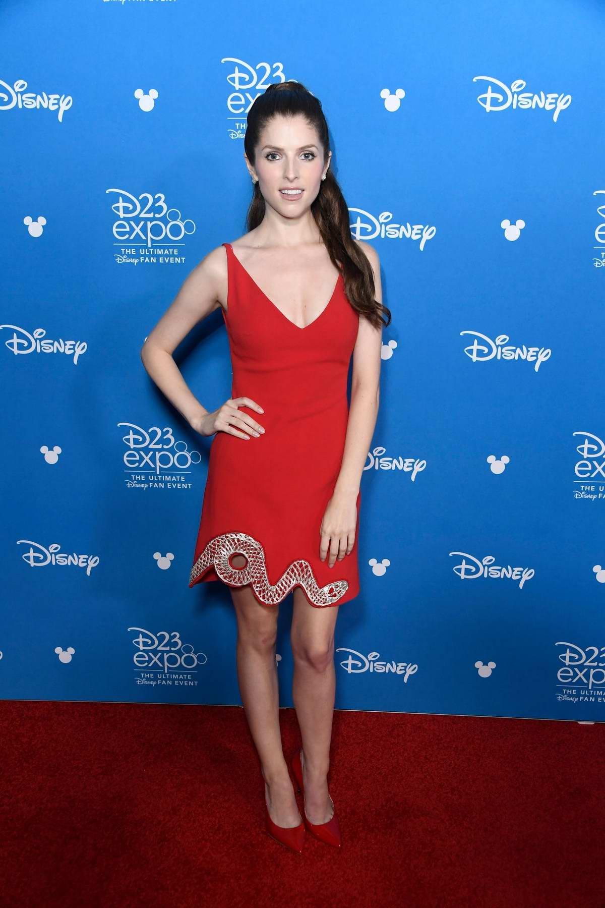 Anna Kendrick attends Disney D23 Expo 2019 at Anaheim Convention Center in Anaheim, California