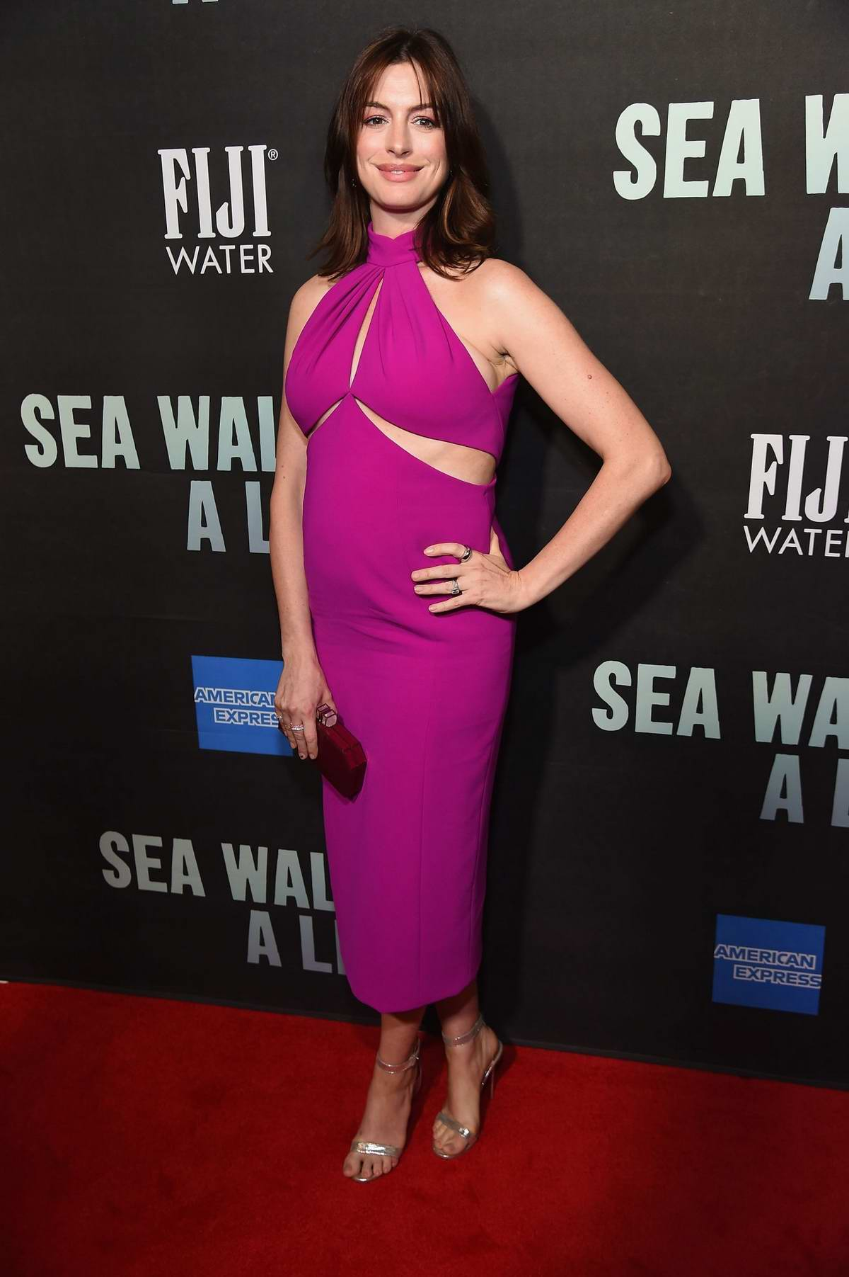 Anne Hathaway attends FIJI Water At Sea Wall A Life Opening Night On Broadway in New York City