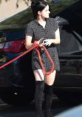 Ariel Winter takes her dog to the animal hospital in Los Angeles