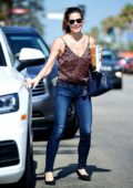 Ashley Greene is all smiles as she picks up her morning coffee at Starbucks in Los Angeles