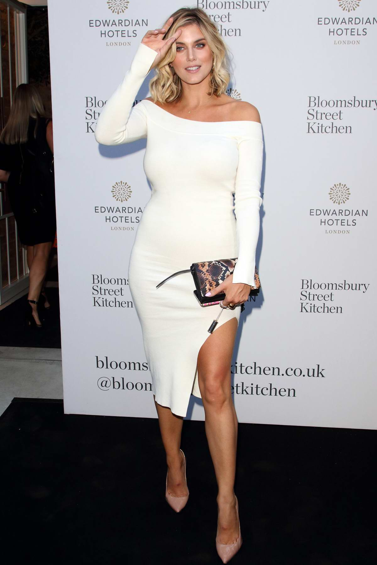 Ashley James attends the Bloomsbury Street Kitchen Restaurant Launch Party in London, UK