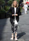 Ashley Roberts looks trendy as she leaves Global Radio in London, UK
