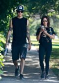 Ashley Tisdale and Christopher French enjoy an afternoon hike with their dog in Los Feliz, California