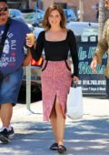 Ashley Tisdale is all smiles as she picks up lunch to-go from Joan's on Third in Studio City, Los Angeles