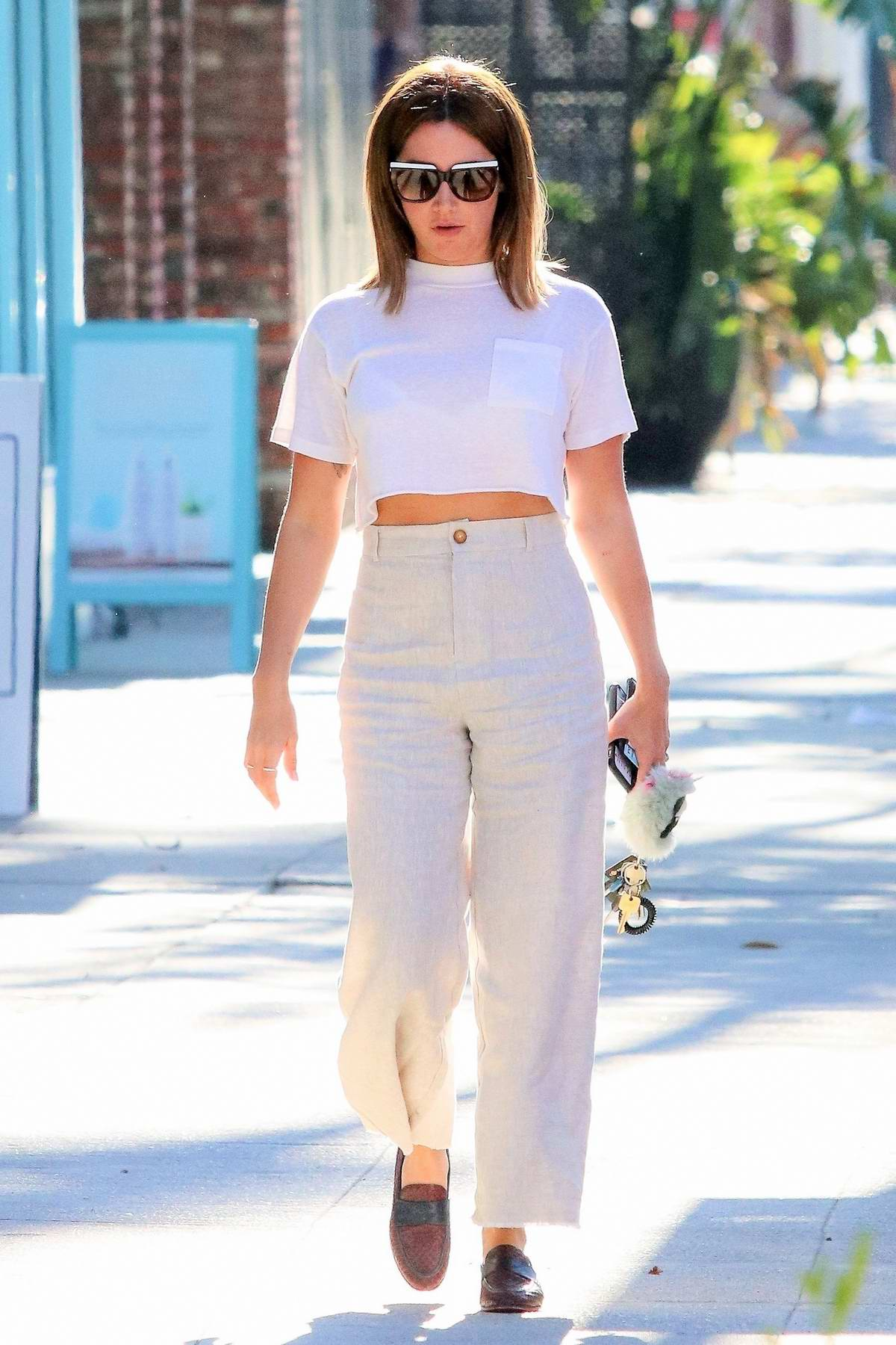 Ashley Tisdale keeps it casual chic as she heads to a nail salon in Studio City, Los Angeles
