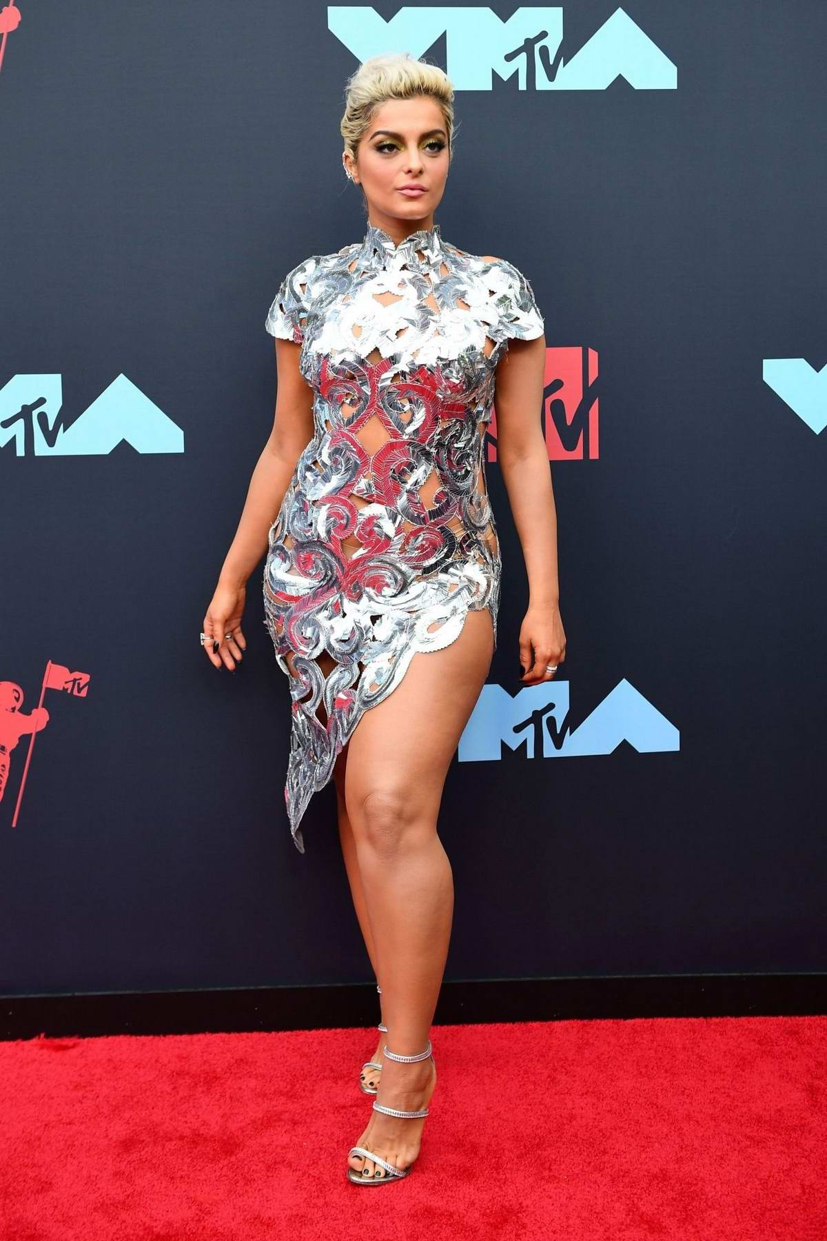 Bebe Rexha attends the 2019 MTV Video Music Awards at Prudential Center in Newark, New Jersey