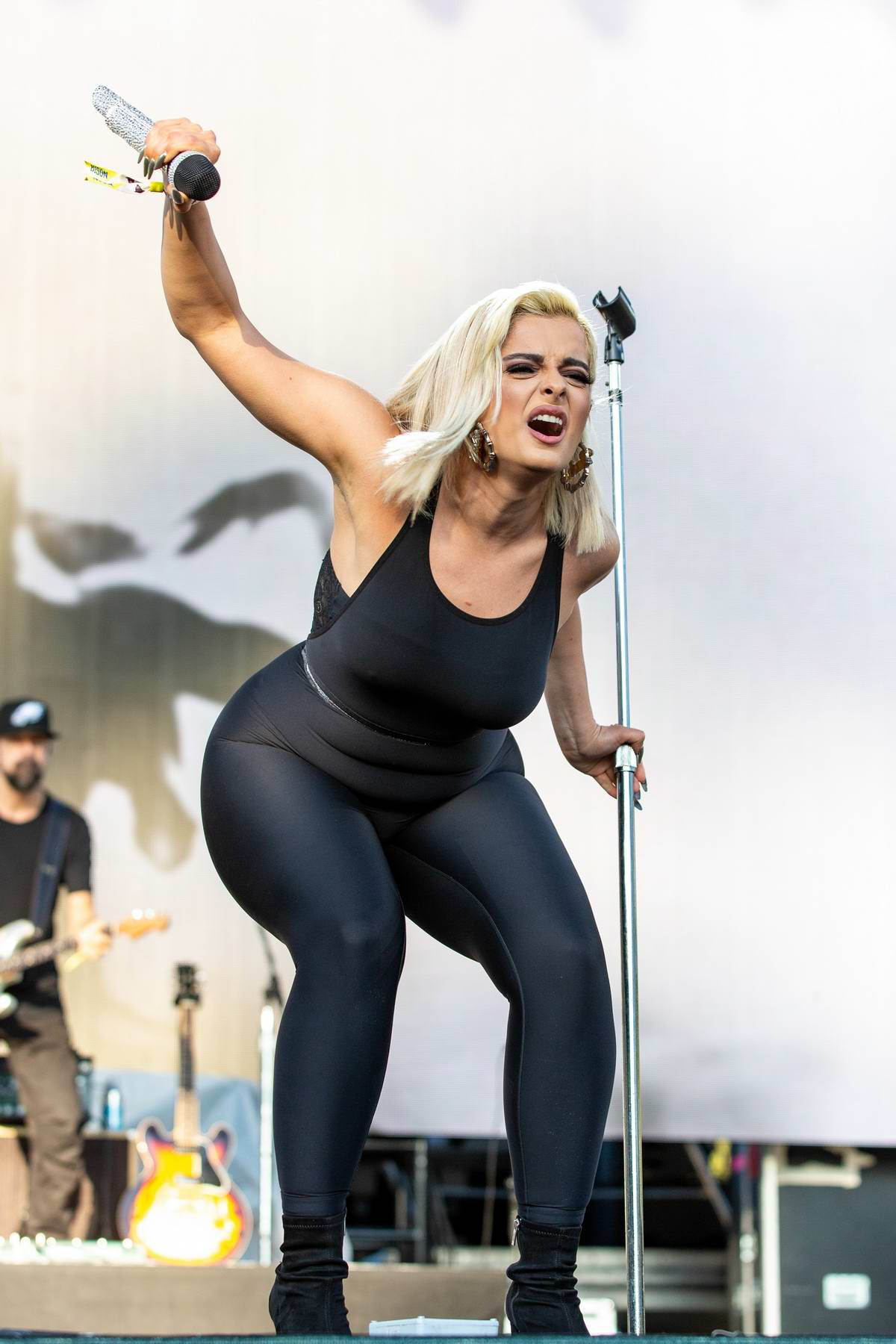 Bebe Rexha performs at Lands Music Festival at Golden Gate Park in San Francisco, California